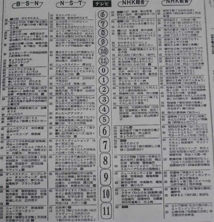 昔の新聞のTV欄をうpしてくれYouTube動画>12本 ニコニコ動画>1本 ->画像>334枚
